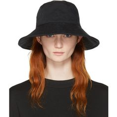 Acne Studios Black Bob Hat (250 CAD) ❤ liked on Polyvore featuring accessories, hats, black, acne studios, bucket hat, fishing hat, twill hat and twill bucket hat