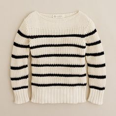 I've always wanted a little boy to dress up like Gaultier.... Boys' cotton sailor sweater at Jcrew on sale for $39.99