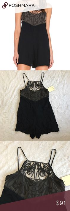 New Revolve Oh Boy Black Mesh Top Romper Size P Size p (petite) fits like a size small so marked as such. ⚜️I love receiving offers through the offer button!⚜️ New with tags, as seen in pictures! Fast same or next day shipping!📨 Open to offers but I don't negotiate in the comments so please use the offer button😊 Check out the rest of my closet for more Adidas, Lululemon, Tory Burch, Urban Outfitters, Free People, Anthropologie, Victoria's Secret, Sam Edelman, Topshop, Asos, Revolve, Brandy…