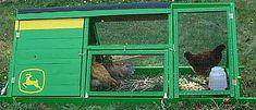 Chicken tractor John Deere style-clever!