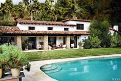Mario Testino's L.A. Spanish home
