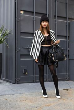 Natalie from La Vagabond Dame in the White Minx Pumps (http://www.nastygal.com/by-nasty-gal-shoes/minx-pump-white) #ShoeCult