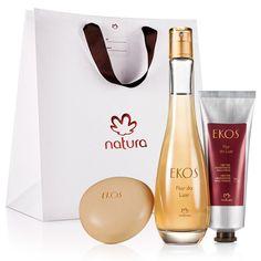 Presente Natura Ekos Flor do Luar - Desodorante Colônia Feminino 100 ml + Néctar Hidratante para Mãos 75 g + Sabonete em Barra 90 g + Embalagem - 66239
