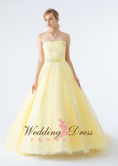 Wedding Dresses in different colors Yellow Wedding Dress, Custom Wedding Dress, Modest Wedding Dresses, Colored Wedding Dresses, Wedding Colors, Formal Dresses, Different Hairstyles, Quinceanera Dresses, Wedding Bells