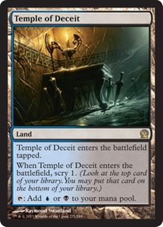 Temple of Deceit MtG Magic the Gathering card scry land