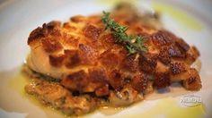 Peito de frango crocante com creme de shitake e cream cheese - by Thomas Troigos