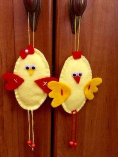 Kurczaki z filcu