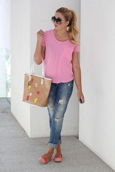 Girlie in Boyfriend Jeans <3<3<3