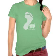 Yeti Big Foot Was Here T-shirt