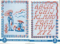 Free Easy Cross, Pattern Maker, PCStitch Charts + Free Historic Old Pattern Books: Alphabets et Motifs au Point de Croix N° 4