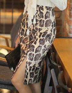 Styleonme_Leopard Pencil Skirt #leopard #pencilskirt #skirt