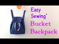 **DIY**How to make Buket Backpack.** Easy Tutorial.** - YouTube
