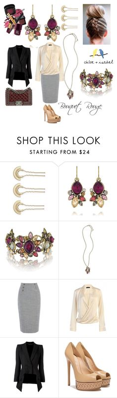 Bouquet Rouge Business by sitkajewels on Polyvore featuring Alexander McQueen, Casadei, Chanel and Chloe + Isabel