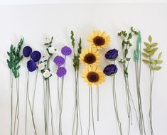 Felt Flower Bouquet Sunflower Garden by SugarSnapFeltFlorist see link for final bouquet £96 Etsy