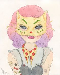 """A couple weeks ago I got in touch with Sashiko Yuen, also known as Wishcandy, to talk about her illustrations. Fascinated by """"beauty a..."""
