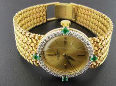 Ferro Jewelers - Watches | BAUME & MERCIER DIAMOND/EMERALD WATCH