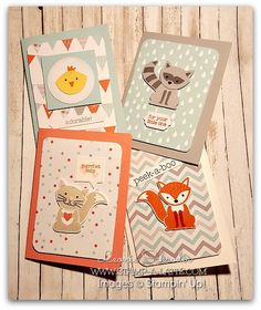 Foxy Friends Mail Art Project Life cards for Baby Album - turn them into baby…