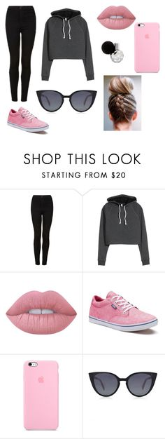 """Chillin"" by vicgibbons ❤ liked on Polyvore featuring Topshop, Lime Crime, Vans and Fendi"