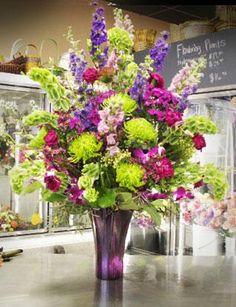 purple flower arrangement | Impressive Sized Flower Arrangements
