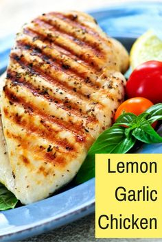 Healthy Lemon Garlic Chicken to help you lose weight. Healthy doesn't have to be bland!
