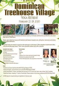 Yoga, Zip lining, ATV Tour, swimming, snorkeling in the Dominican Republic, February 22-28, 2020.