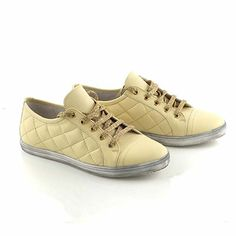 Light yellow sneakers with special gold laces Yellow Sneakers, Gold Lace, Summer 2014, Shoes, Fashion, Moda, Zapatos, Shoes Outlet, Fashion Styles