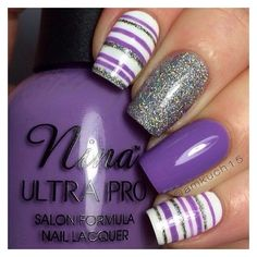 Purple And Grey Nail Design Ideas ❤ liked on Polyvore featuring beauty products, nail care, nail treatments and nails