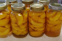 Canning Peaches in Water Bath  Though my peach trees probably have 2 more years to start growing lots of peaches, my neighbors grows way way way to many for them. So I am doing this next fall.