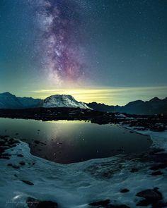 Milky way in Engadin @canonswitzerland #milkywaystory #muotasmuragl #stmoritzsoul #stmoritz2017 #stmoritz #graubünden #engadinstmoritz #engadin #astrophotography #milchstrasse #milkyway #nightsky #nachthimmel #stars #mountains #astro #canon60da #canon60d #canon #galaxy #planets #switzerland #astrophoto #bregaglia #pond #lake #reflection #snow #spiegelung Canon 60d, Galaxy Planets, St Moritz, Milky Way, Switzerland, Pond, Fountain, Reflection, Northern Lights