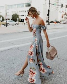 Floral Design Dresses Idea. When you think about printed cloths, what pops into your brain? #floral #dress #design #clothing #lifestyle