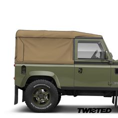 Willow Green metallic paint and the choice of a sand or olive canvas roof. Which Lightweight is your. Land Rover Defender 130, Land Rover Car, Land Rovers, Defender 90, My Dream Car, Dream Cars, Green Metallic Paint, Best 4x4, Willow Green