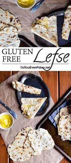 Gluten Free Lefse (Norwegian flatbread also paleo dairy free nut free! Gf Recipes, Dairy Free Recipes, Real Food Recipes, Lefse Recipe Gluten Free, Gluten Free Breads, Gluten Free Flatbread, Disney Recipes, Disney Food, Patisserie Sans Gluten