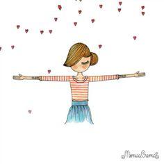 :) um abraço e muito amor! ♥ Monica Crema, Illustrations, E Cards, Line Drawing, Vintage Posters, Orange Is The New Black, Pop Art, Funny Pictures, Doodles