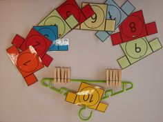 Counting / basic facts activity for stages Touch Math, Becoming A Teacher, Child Smile, Kids Learning Activities, Teaching Ideas, Recycled Materials, Games For Kids, Education, Montessori