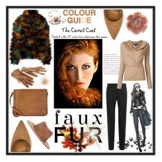 """Faux Fur & Camel Color......"" by marina-class ❤ liked on Polyvore featuring Dolce&Gabbana, MICHEL KLEIN, Dee Keller, Jérôme Dreyfuss, Miss Selfridge and Maison Michel"
