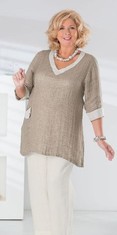 Kasbah natural linen soft spot top