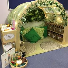 Reading area - if you go down in the woods today