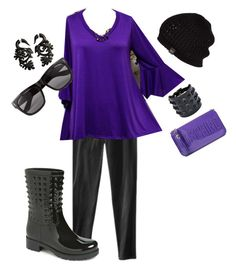 """My Purple Day"" by criketdawn on Polyvore featuring Mossimo Supply Co., Valentino, UGG Australia, Moschino, Vero Moda and plus size clothing"