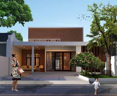 Model Rumah Minimalis Tanpa Atap Modern Dengan Banyak Kaca