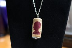 #EBAY FLASH SALE! Only 1 Day of Bidding at a low price of one of my Hand Painted Women's Silhouette Wine Cork Pendant Necklaces! HAPPY SNOW DAY!!!  #HappyBidding  http://r.ebay.com/SbkAlc