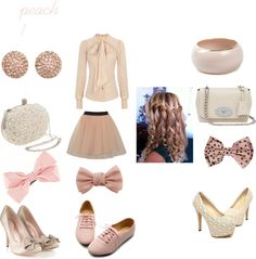 """peach!"" by onedirectionlover2012 on Polyvore"