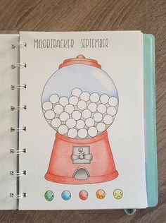 Bullet Journal mood tracker #bulletjournal