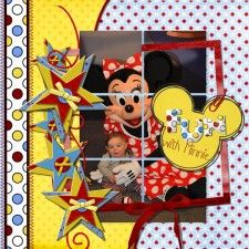 Disney #scrapbook page. Like the layout.