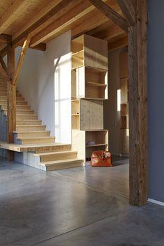 "Haus Laanz ""Stadl"", Parkstetten - ediundsepp – Lang Hugger Rampp Stairs, Interior, Home Decor, Detached House, Architecture, Stairway, Decoration Home, Indoor, Room Decor"
