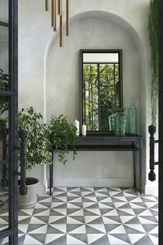 The stylish way to connect your indoor and outdoor areas Connect interior and exterior spaces with encaustic cement tiles Livingetc Porch Tile, Patio Tiles, Concrete Tiles, Cement Tiles Bathroom, Cement Floors, Entry Tile, Tile Entryway, Garden Tiles, Estilo Interior