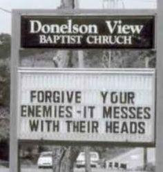 church humor, sign, words, christian, faith, forgive