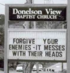 church humor, sign, words, christian, faith, forgive