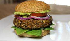 Quinoa & Black bean Veggie Burger - Healthy, easy to make, vegan & gluten-free. *Register to my newsletter and get a free eBook! Vegetarian Recipes Easy, Dairy Free Recipes, Veggie Recipes, Vegan Vegetarian, Healthy Recipes, Gluten Free, Veggie Burger Healthy, Vegan Burgers, Healthy Cooking