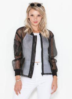 organza baseball jacket  pastel goth nu goth punk goth grunge fachin baseball jacket jacket sheer top under30 gojane