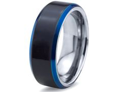 Hey, I found this really awesome Etsy listing at https://www.etsy.com/listing/199806468/mens-tungsten-ringblue-black-men